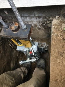 Lifting A Sinking Foundation With Push Piers In West Covina