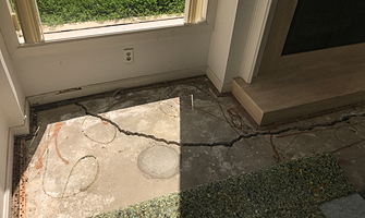 sloping floors from cracked slab